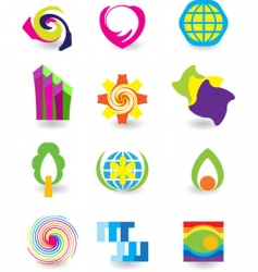 elements icons vector image