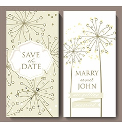 Marriage invitation card with flower background vector