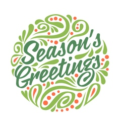 Holidays greeting card vector