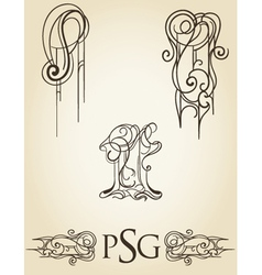 Scroll collection 2 vector
