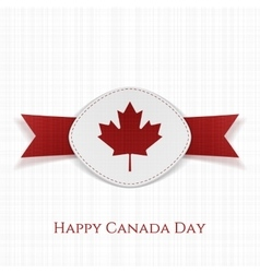 Happy canada day festive card template vector