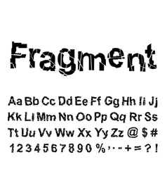 Abstract fragment font vector
