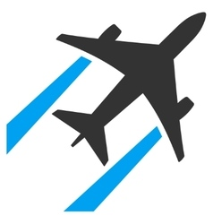 Air Jet Trace Flat Icon vector image vector image