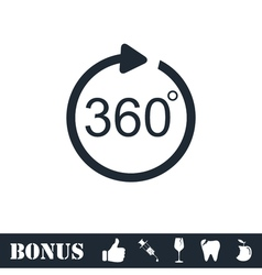 Angle 360 degrees icon flat vector image