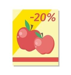 Apple sale in flat design vector