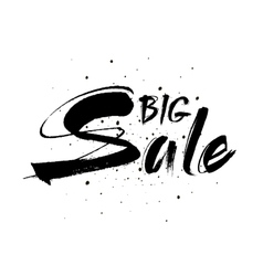 Big sale drawn lettering sale typography vector