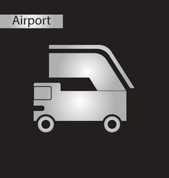 Black and white style icon ramp airport vector