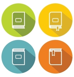 Book flat icons for school and university vector image vector image