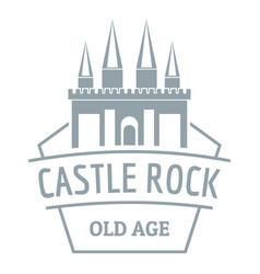 Castle rock logo simple gray style vector