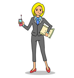 Character of business women cartoon vector