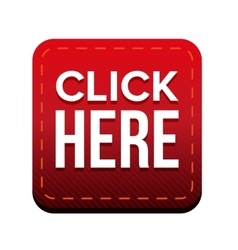 Click here button red vector