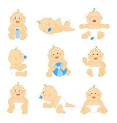 Cute baby in diaper vector image