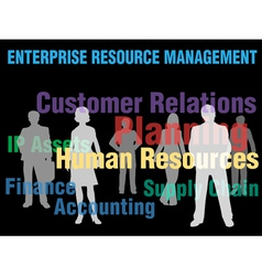 enterprise management vector image