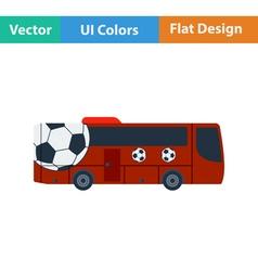 Football fan bus icon vector image vector image