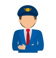 Half body pilot with crossed arms vector