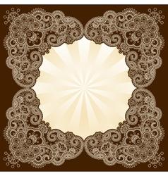 Mehndi frame vector image vector image