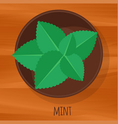 Mint flat design icon vector