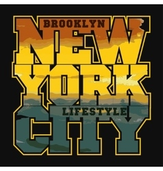 New York Sport T-shirt Design - vector image vector image