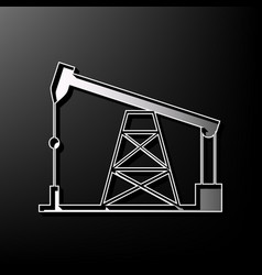 Oil drilling rig sign gray 3d printed vector