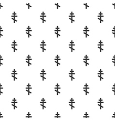 Orthodox cross pattern simple style vector image