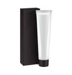 Plastic tube with black box for medicine or vector