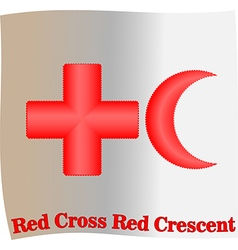 Red cross red crescent vector