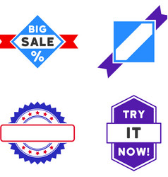 sale seal stamp flat icons vector image vector image