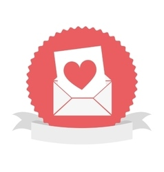 seal stamp with heart icon vector image vector image