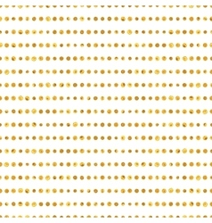 Seamless pattern of golden dots stripes vector image