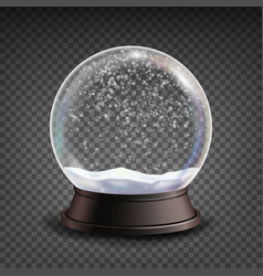 snow globe realistic realisitc 3d snow vector image vector image