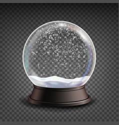 snow globe realistic realisitc 3d snow vector image