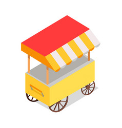 streetfood trolley with tent isolated vector image vector image