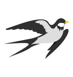 Swallow icon flat style vector