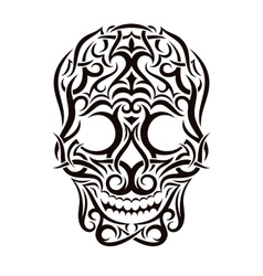 Tattoo tribal skull design element vector image