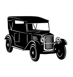 Vintage car of 1920s years vector