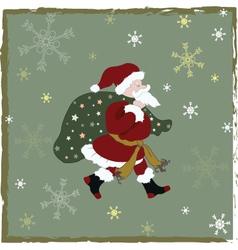 vintage-christmas-card vector image