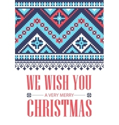 We wish you a very merry christmas greeting card vector