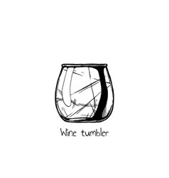 wine tumbler glass vector image vector image
