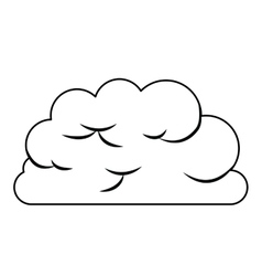 Cloud computing concept isolated icon design vector