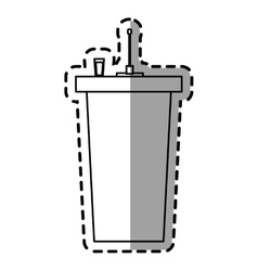 disposable glass plastic drink vector image