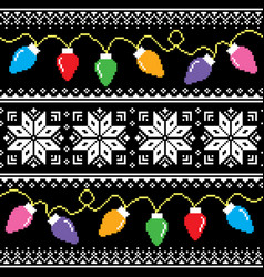 Ugly jumper pattern with christmas tree lights vector