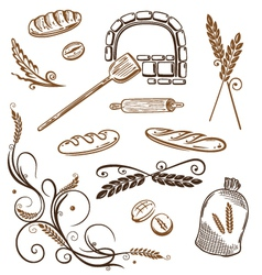 Grain bread bakery vector