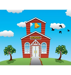 school house vector image