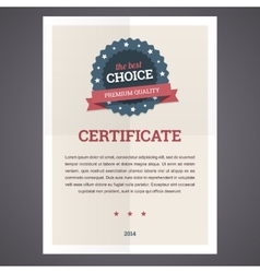 Best choice certificate template vector