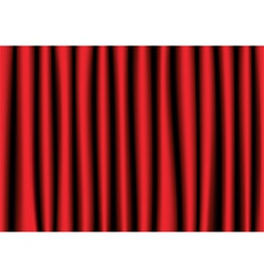 Red realistic curtain vector