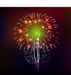 Happy new year with fireworks background vector