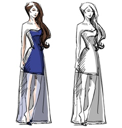 Fashion hand drawn vector