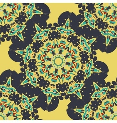 Seamless mandala  vintage decorative element vector