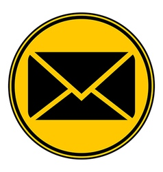 Mail button vector