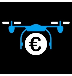 Euro quadcopter payment icon vector